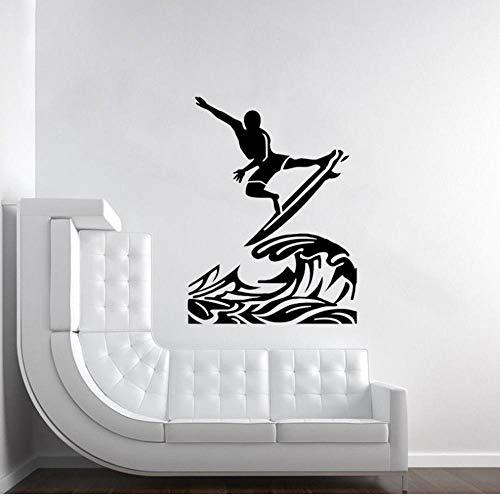Wandsticker Aufkleber Wohnzimmer Garderobe Flur Fenster Wohnung Kinderzimmer Badezimmer Surfen 45X60Cm
