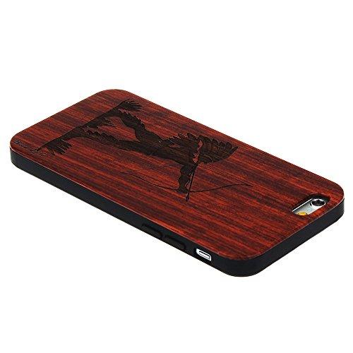 per iPhone 7 Custodia, Forepin® Reale Handmade Legno Retro Custodia Cover Protettivo Skin Caso Hard PC Bumper Case per iPhone 7 - Colore 12 Colore 15