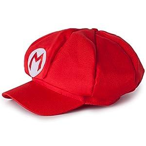 Katara Disfraz de Super Bros. Carnaval, Halloween-Gorra de Mario, Niños/Adultos, color rojo (MROT)