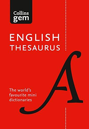 Collins English Gem Thesaurus: The world's favourite mini thesaurus (Collins Gem)