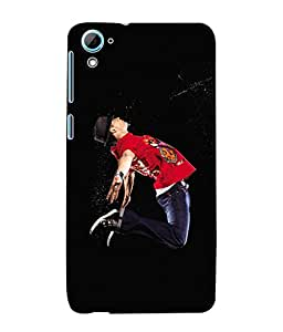 Fuson 3D Printed Dance Designer Back Case Cover for HTC Desire 826 - D617