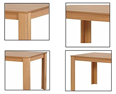 Campbell Oak Effect Dining Table, 150 cm x 90 cm x 75 cm