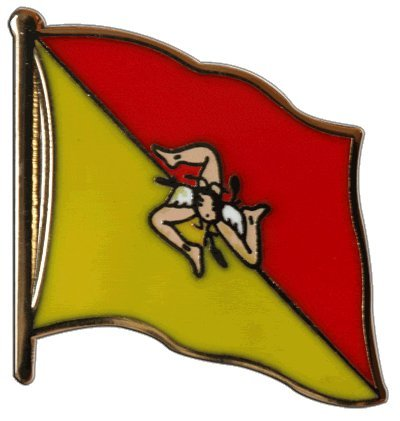 Flaggen-Pin/Anstecker Italien Sizilien vergoldet