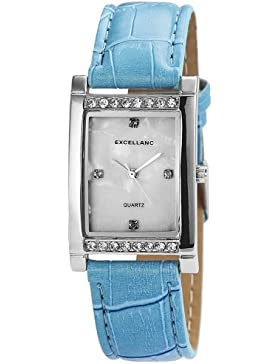 Excellanc Damen-Armbanduhr Analog Quarz Kunstleder 192022200113