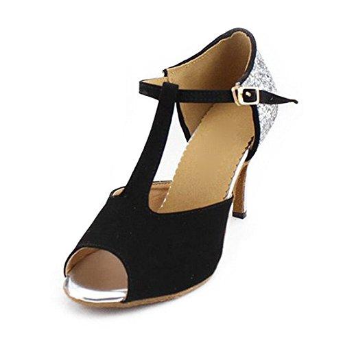 """SUKUTU Mujer Latina Baile Zapatos de Baile Zapatos de Fiesta de Brillo de la Danza de la señora SU027 (9.06""""/36EUR)"""