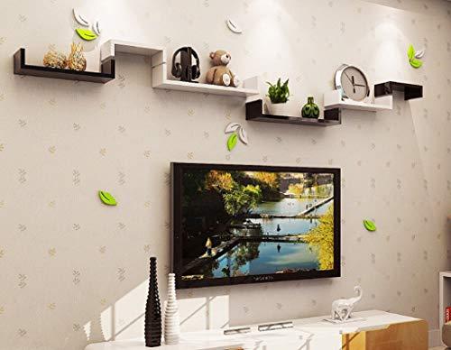 Sjysxm-floating shelf mensola da parete parete minimalista creativa parete attrezzata parete divisoria divano da soggiorno mensola