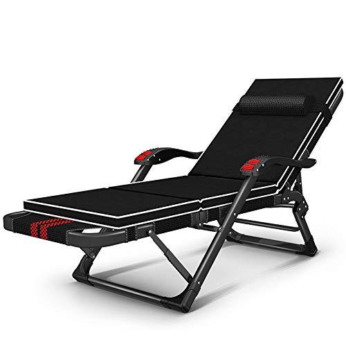 Oevina Stufe 15 Verstellbare Lounge-Stühle Lässige Gartenstühle Sommer-Strandstühle Massage-Sessel Siesta-Stuhl Tragbarer Gartenstuhl Sonnenliegen Abnehmbare Baumwollauflage (Farbe : A) -