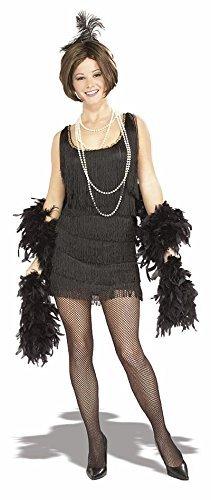 Rubie 's Offizielles Damen Chicago Flapper Erwachsene Kostüm, schwarz, Größe - Chicago Flapper Kostüm