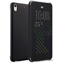 Funda Desire 626 , Ordica ES®, Carcasa HTC Desire 626 Con Tapa a libro [Dot View Compatible] Case Slim Resistente Case Accesorios Anti Golpes, Color Porpora -