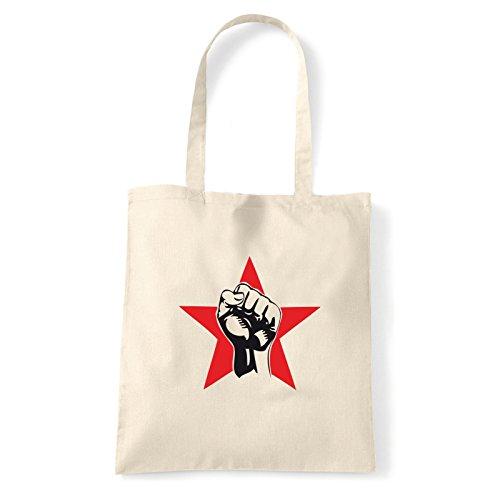 Art T-shirt, Borsa Shoulder pugno-rosso Natural