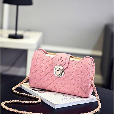 SUNNY KEY-Borsa a tracolla @ Donna Borsa a tracolla PU (Poliuretano) Per tutte le stagioni Casual Baguette Cerniera Nero Rosa Grigio Vino , gray blushing pink