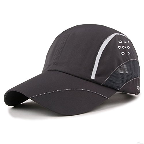 GADIEMKENSD Quick Dry Sports Hat Lightweight Breathable Soft Outdoor Run Cap (Raindrops series, Deep Gray) (Womens Life Is Good Hat)