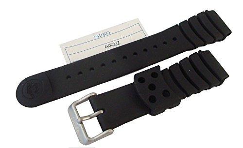 Original Seiko schwarz Silikon Gummi Taucher Uhrenarmband 4kr3jz