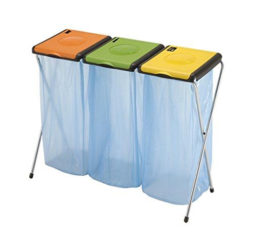 Vileda Nature 3 Müllsackständer, Stahl/Kunststoff, orange/grün/gelb, 6-Einheiten