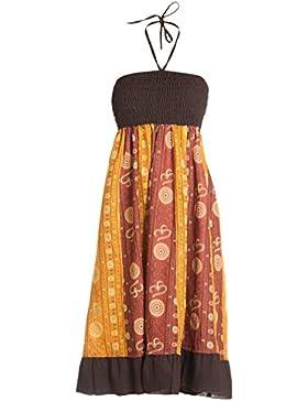 ufash Falda maxi o vestido patchwork con cinturilla elástica, aprox. 100 cms de largo - muchos diseños diferentes