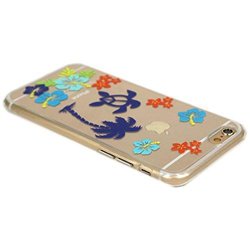 Cover iPhone 5/5S/SE, TrendyBox Cute Case Cover per iPhone 5 5S SE con Vetro Temperato Pellicola Protettiva (Angelo e Coniglio Rosa) Tartarughe