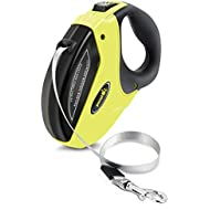 Pecute Retractable Dog Lead - Easy One Button Brake & Lock - Extends up to 16 Feet of Freedom and Protection - Pulling Force up to 110 lbs