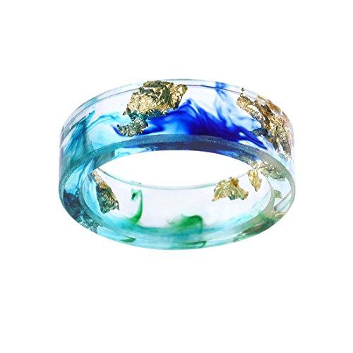 Durable Harz Band Ring Für Frauen Männer Versprechen Hochzeit Engagement Band Größe 9 (Versprechen Ringe Halskette)