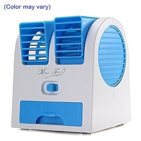 Mini Portable Dual Bladeless Small Water Oprate Fan For Car/Home/Office Air Conditioner USB