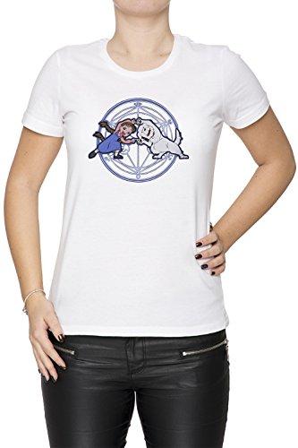 Vollmetall Verschmelzung Ha! Damen T-Shirt Rundhals Weiß Kurzarm Größe M Women's White Medium Size M Chimera Medium Video
