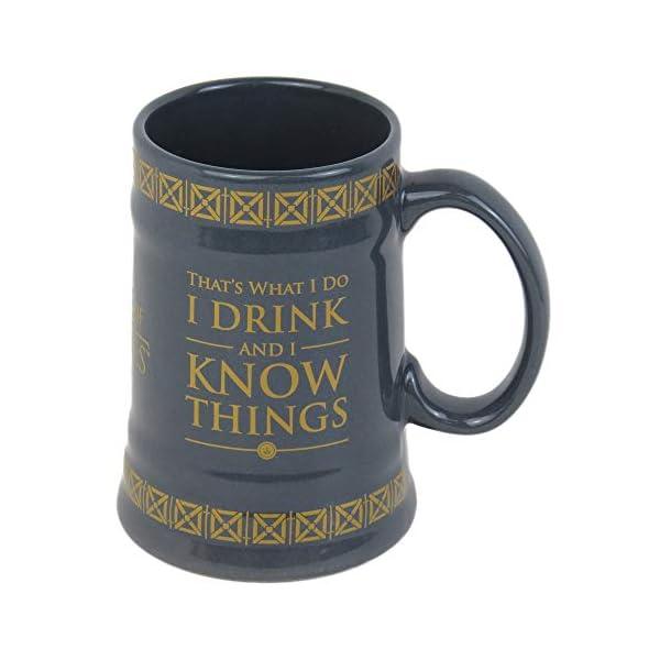 Game of Thrones MGS24848 - Taza de cerámica con forma de Stein (595 ml), multicolor 1