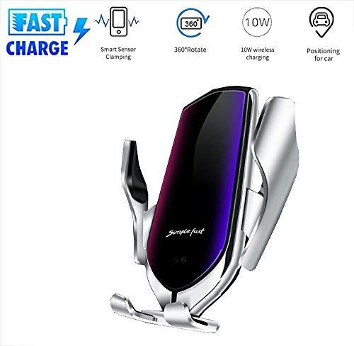 HYGLPXD Schnelles Wireless Charger Auto Handyhalterung,Automatischer Infrarotsensor Smartphone Halterung Charger Lüftung Qi Ladestation für 10W Samsung Galaxy, 7.5W iPhone Mehr,003 Modell 700 Audio-video