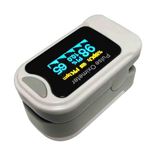 Saturimetro da dito Pulsossimetro portatile portatile con display OLED Anti-jamming Monitoraggio Misuratore della velocità di ossigeno nel sangue Smart Power Saving Medical SpO2 Home Waveform