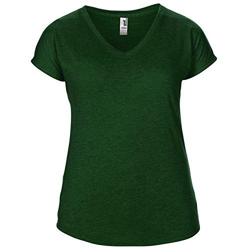 Anvil - Maglietta Scollo a V - Donna Verde Scuro Erica