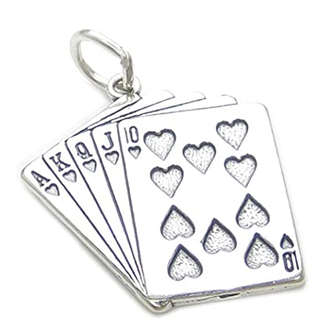 Playing Cards sterling silver charm .925 x1 Poker Whist Bridge Card Games CF4101