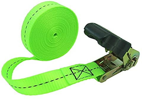WINGONEER Endless Loop Ratchet Tie-Down Standard Duty Ratchet Endless No Hooks/Lashing, 1,700 lbs.196inch - Light