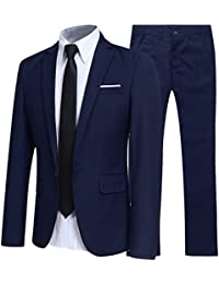Allthemen Herren 2-Teilig Slim FIT Business Anzug dafb5009bf