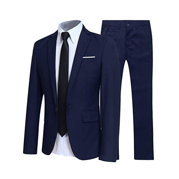 Traje de 2 piezas para hombre, ajuste delgado, para boda, cena, esmoquin para hombre, negocios, casual, chaqueta y…