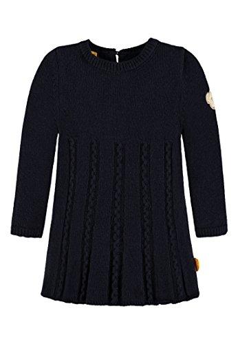 Steiff Mädchen Kleid 1/1 Arm Strick, Blau (Marine 3032), 80