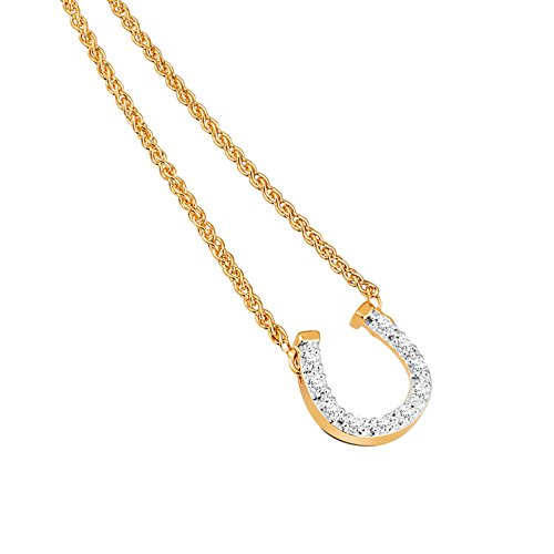 Diamond Line Damen - Halskette 375er Gold 10 Diamanten ca. 0,08 ct.