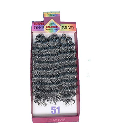 Wigsbuy Trenzas de pelo sintético rizado, rizado, 3 unidades, 3 raíces de pelo corto 100% canekalon