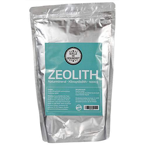 Quelle der Gesundheit Reines Zeolith Klinoptilolith Pulver - 1000g - Made in Germany - geprüfte Premiumqualität - extra fein gemahlen (Quelle Le)