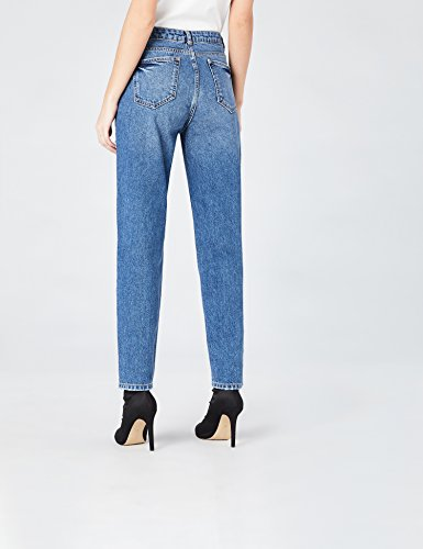 FIND Jeans Straight con Perle Donna Blu (Mid Blue)