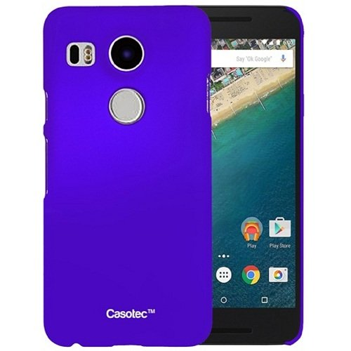 Casotec Ultra Slim Hard Shell Back Case Cover for LG Nexus 5X - Purple  available at amazon for Rs.125