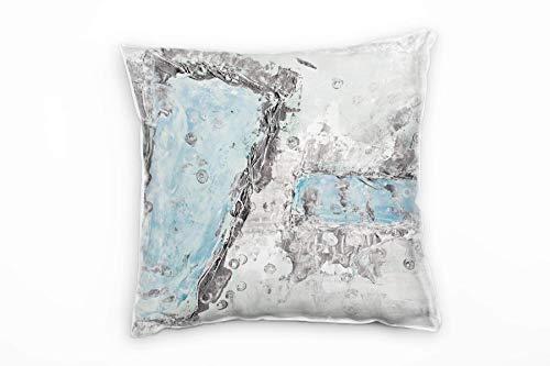 Sinus Art Couch Sofa Lounge Zierkissen in 40x40cm Eisblau Hellgrau