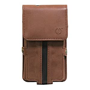 Jo Jo A6 Nillofer Series Leather Pouch Holster Case For Meizu MX5 Dark Brown Black