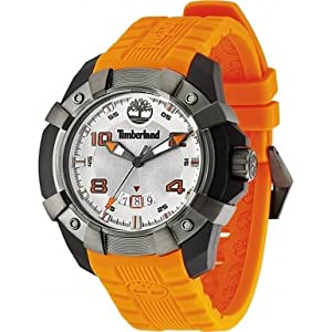 Reloj Timberland TBL.13326JPBU/04 de cuarzo para hombre con correa de silicona, color naranja de Timberland