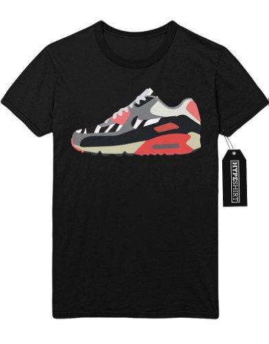 T-Shirt Nike Air Max 1 90 Shoe Zebra Infra Red H999919 Schwarz XXXL (Zebra-print-boxer)