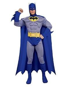 "Batman Costume, Mens Batman Brave Bold Muscle Costume, Small, CHEST 34 - 36"", WAIST 26 - 28"", INSEAM 33"""