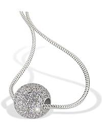 Goldmaid Collar de Mujer de plata con Redondo Circonita Blanco 45cm