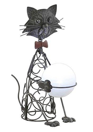 LED Solarleuchte Katze Metall Solarlampe (Garten-Leuchte, Garten-Lampe, Solar Solarlicht, Garten-Deko)