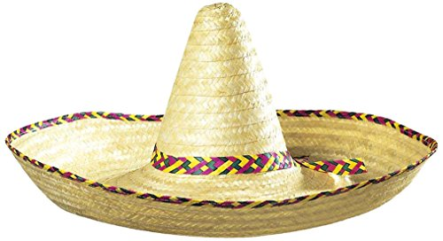 Hut Sombrero (Giant Sombrero Decorated 65cm Mexican Hats Caps and Headwear for Fancy Dress Costumes)