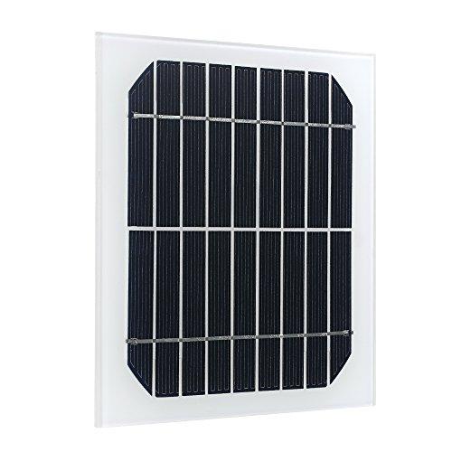 Hylotele DIY Solarplatten 9 V 3,5 W Klein Polykristallines Silizium Solarmodule Batterie für Auto