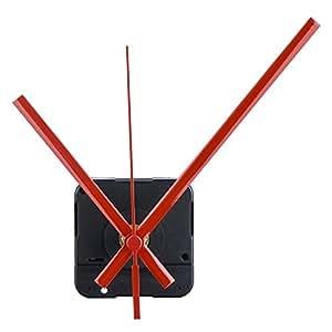 Orologio del Meccanismo al Quarzo Mandrino Lungo, 1/ 2 Pollici Massimo Quadrante Spessore, 9/ 10 Pollici Totale Lunghezza dell'Albero (Rosso)