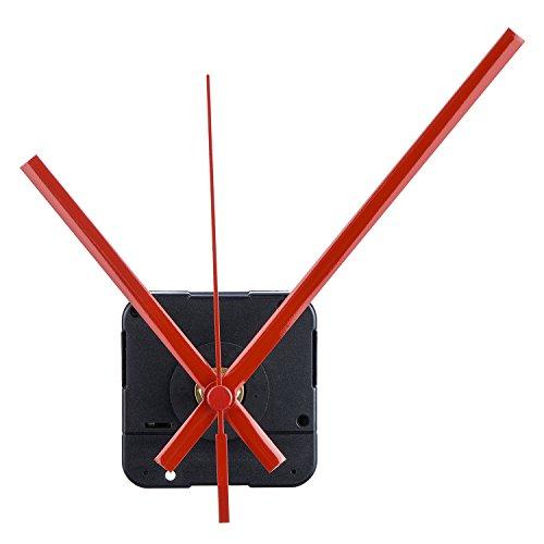 Lange Spindel Quarz Uhrwerk, Maximale Zifferblatte von 1/2Zolldick,Gesamtschaftlänge von 9/10 Zoll ( Rot)