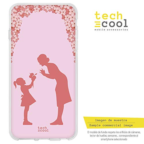 le SchutzHülle Soft TPU Silikon Transparent für LG Q7 l Case, Cover, Handy, High Definition Druck [Dia de la Madre Fondo Flores] ()